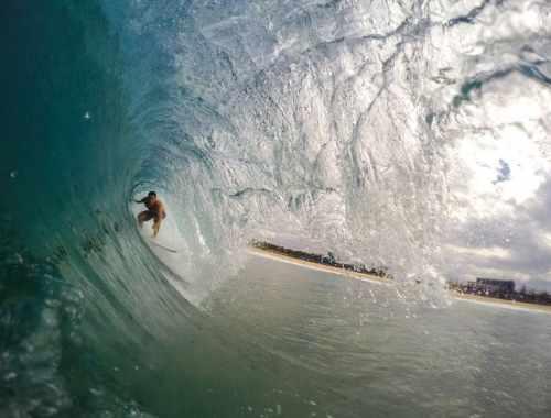 Surfer aux USA - rouleau