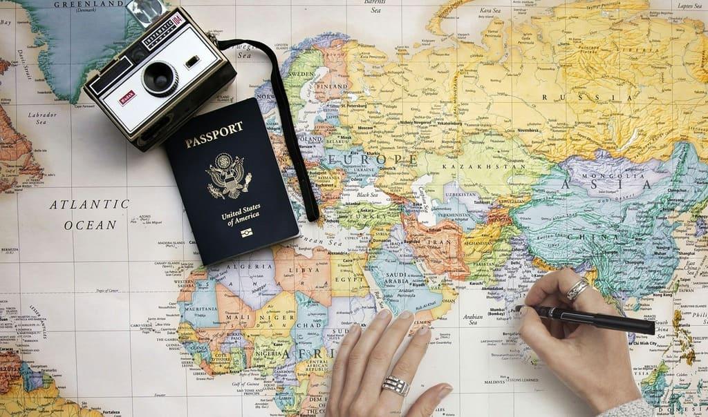 destinations sous-cotées : carte du monde