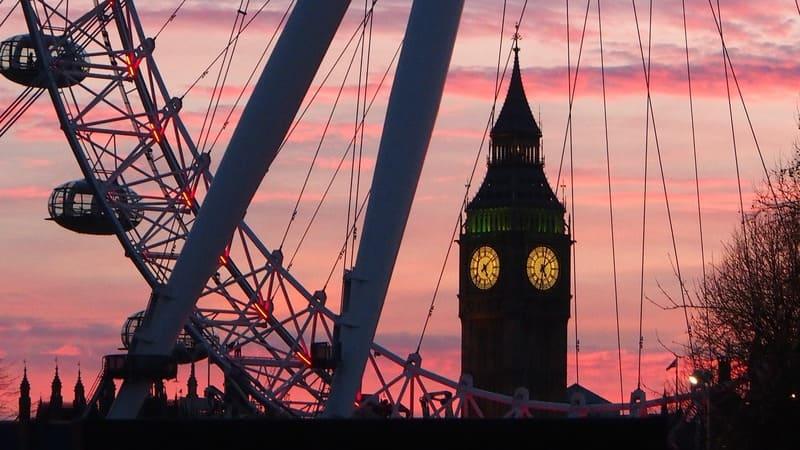 London eye Big Ben week end a Londres
