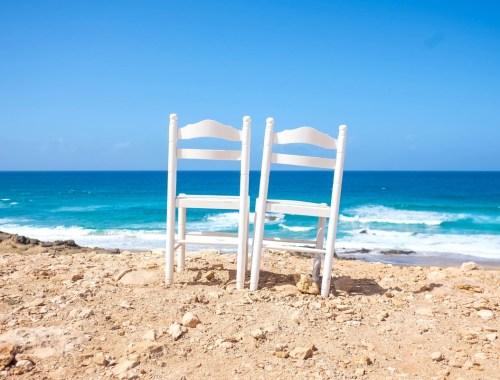 plage chaise couple
