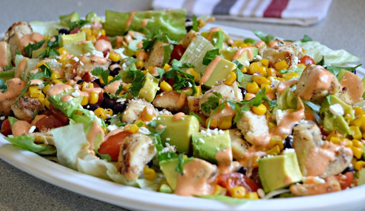 Southwest Chipotle Chicken Salad For A Healthy Lunch