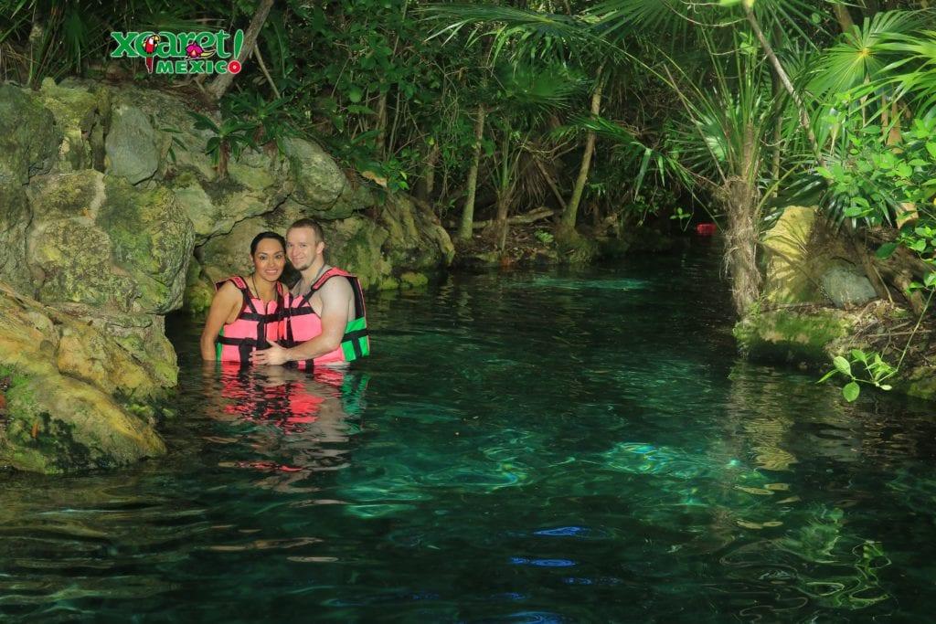 Xcaret underground rivers