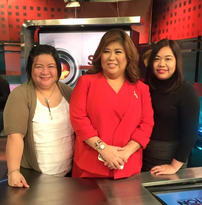 With JS and sr. program manager Christina Pascual after the new OBB shoot. (Photo: Christina Pascual)