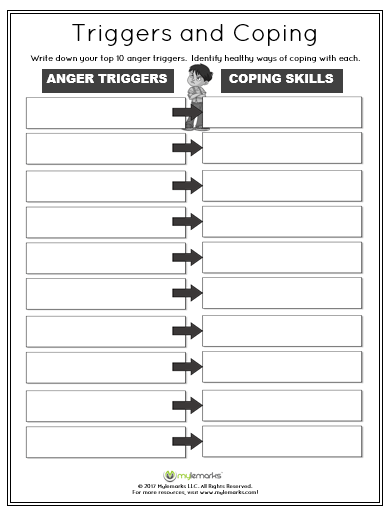 Anger Worksheets