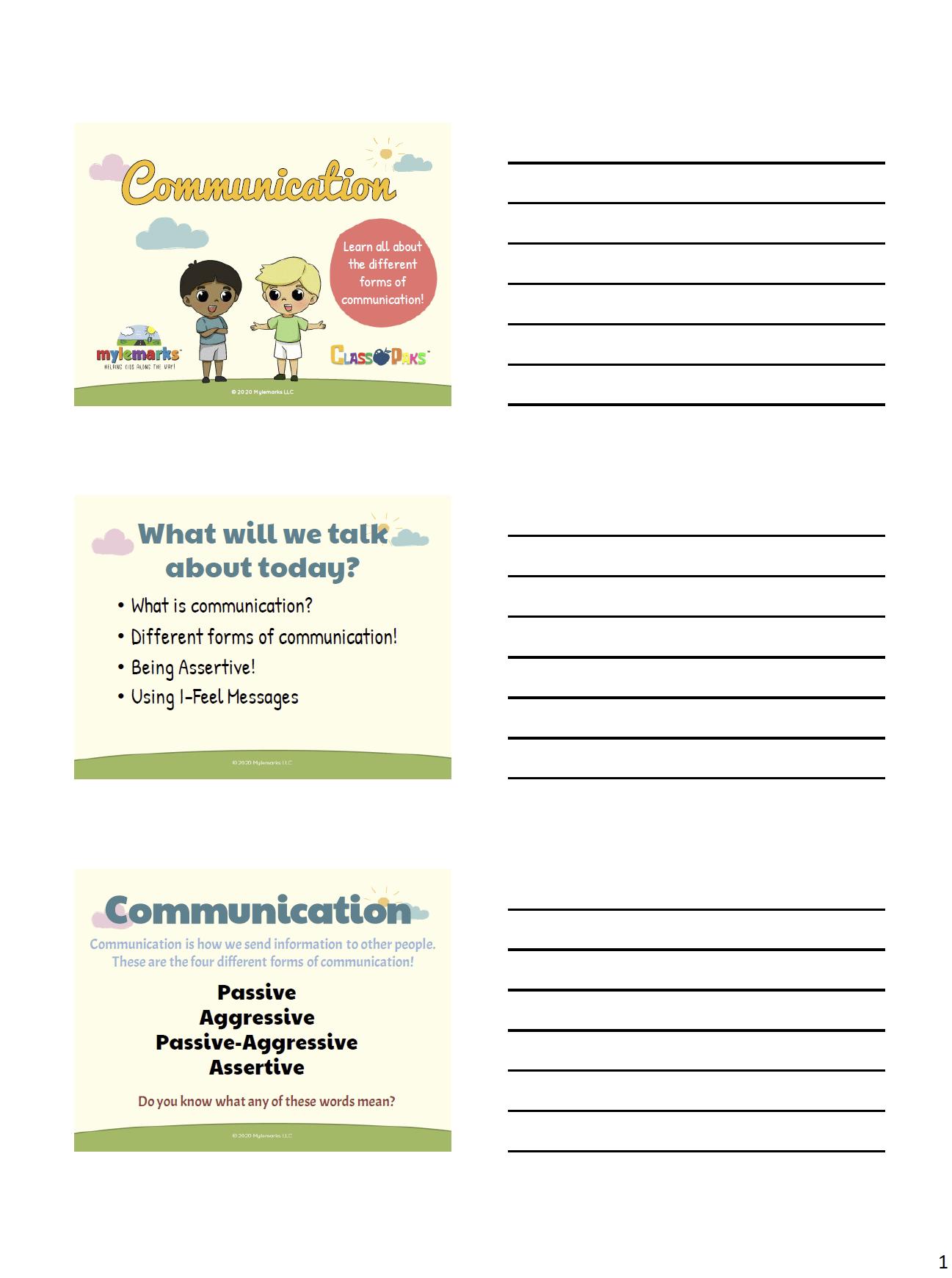 Communication Classpak