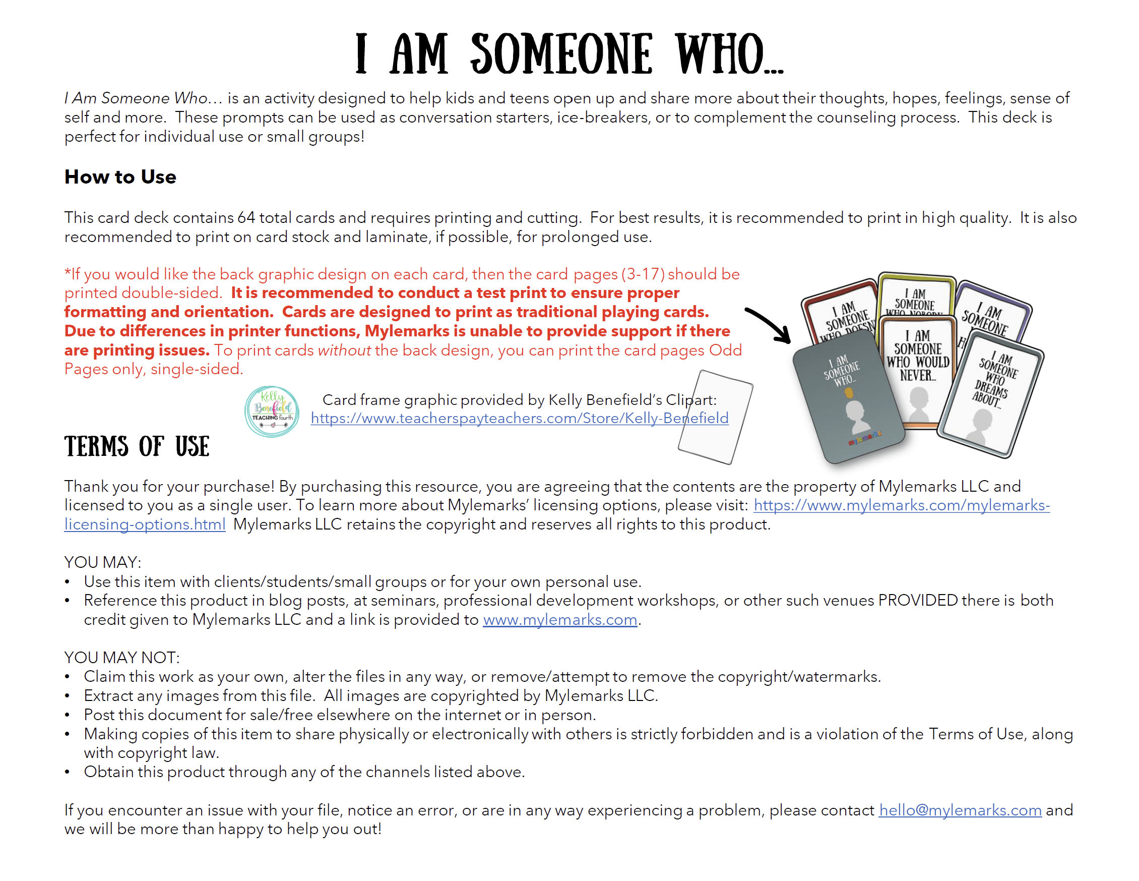 I Am Someone Who Cards