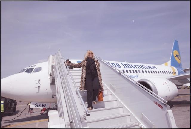 Descente d'avion à Kiev