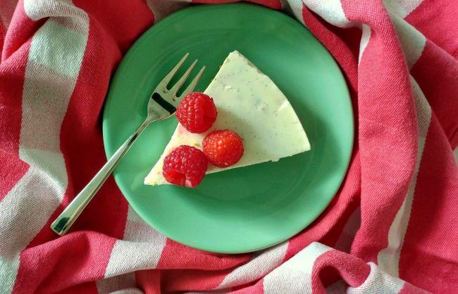 vanille en frambozen kwarktaart