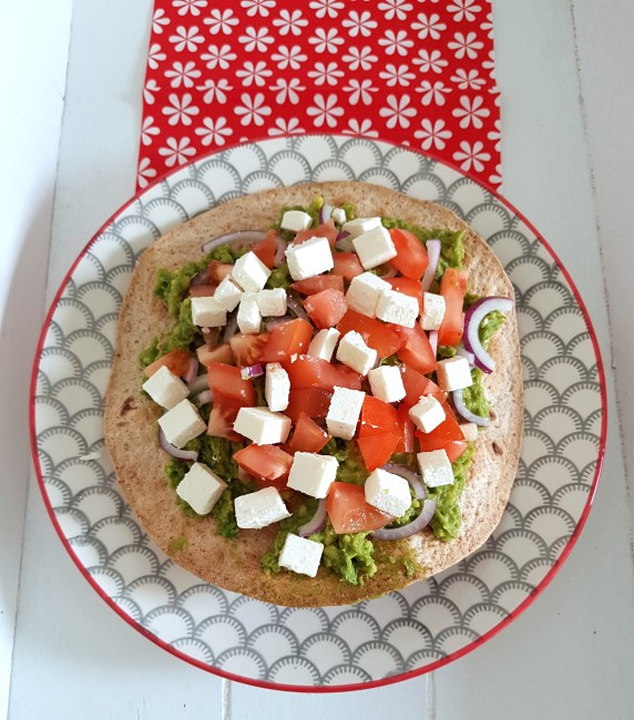 tortilla met avocadospread