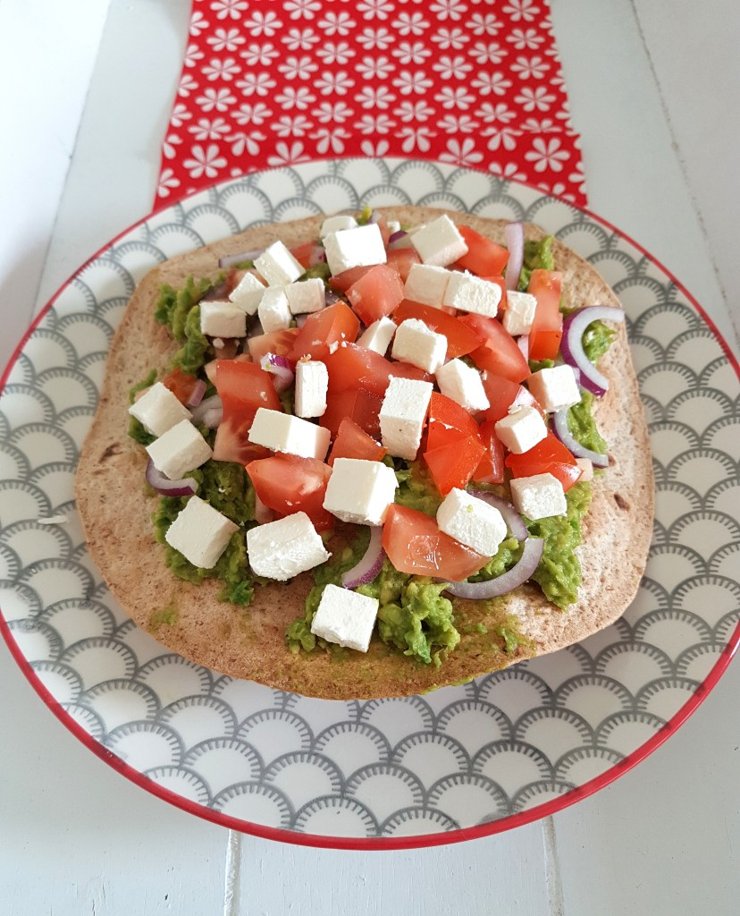 krokante tortilla met avocadospread