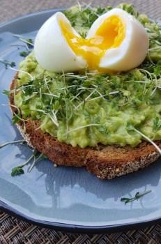 avocado op toast met ei