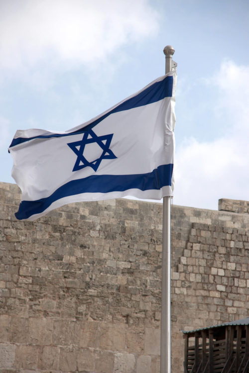 israeli flag over the western wall.2
