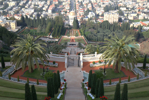 The famed Bahai gardens in Haifa