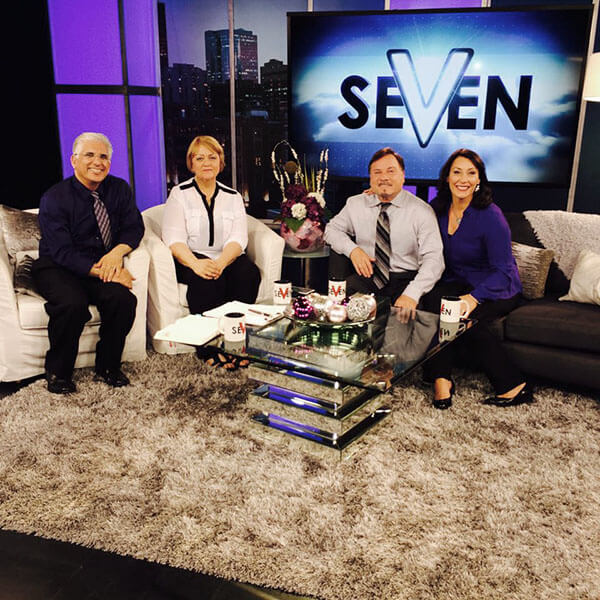 iran alive set with Dr. Hormoz Shariat, Myles and Katharine