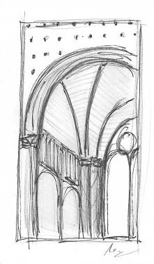 Quadripartite Ribbed Vault