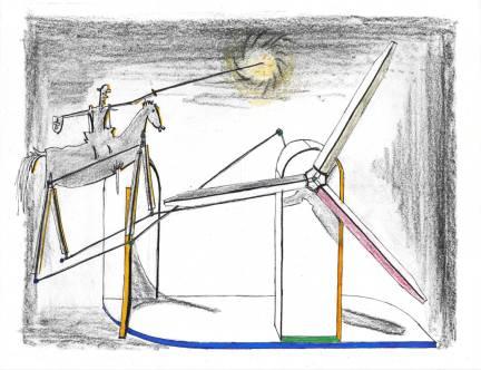 Don Quixote and the Windmill
