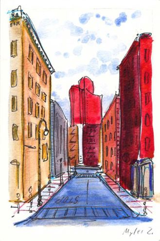 Mosco Alley and Mulberry Street