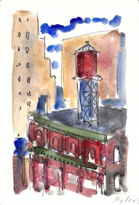 Water Tower on Lafayette