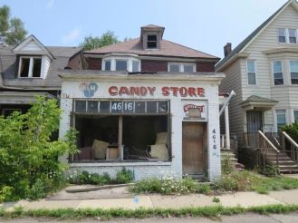 Candy store littered with used needles