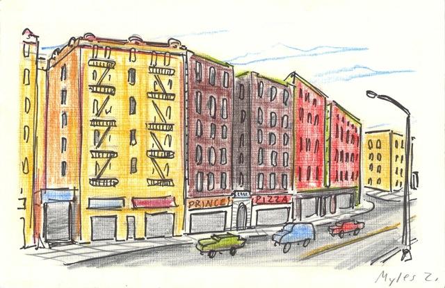 Tenement Row on Kingsbridge Road
