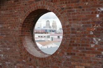 Round window to Downtown Newark