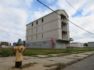 Abandoned building on nearby NJ Railroad Avenue