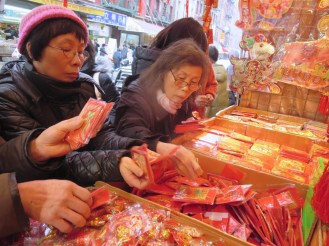 Chinese New Year's shoppers