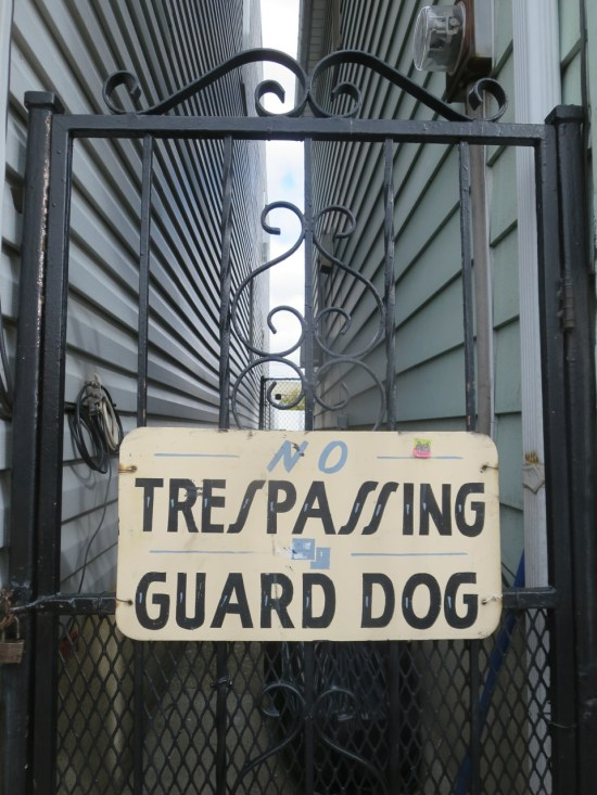 NO TRESPASSING GUARD DOG
