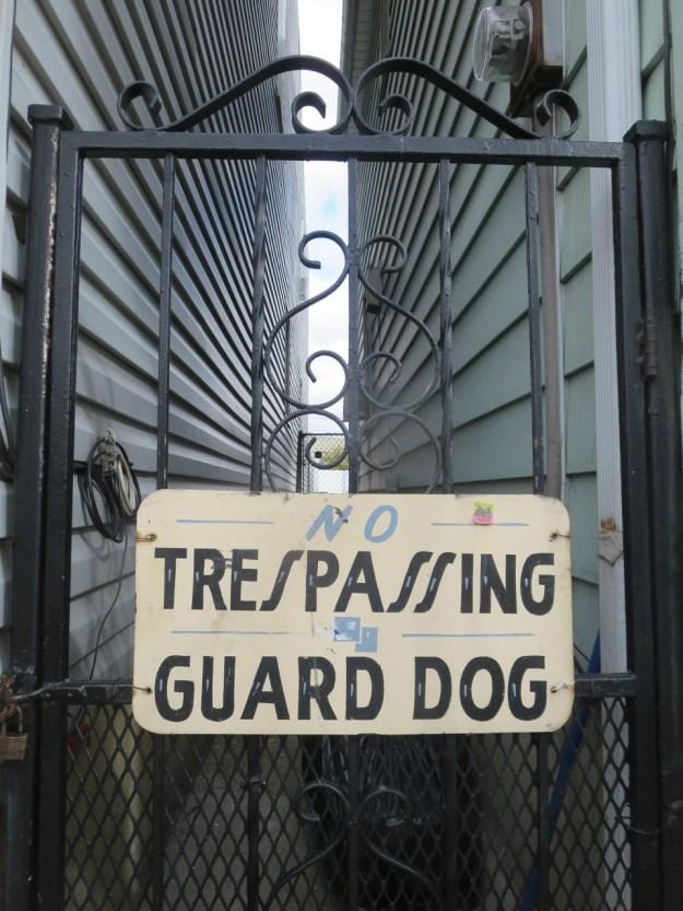NO TRESPASSING GUARD DOG