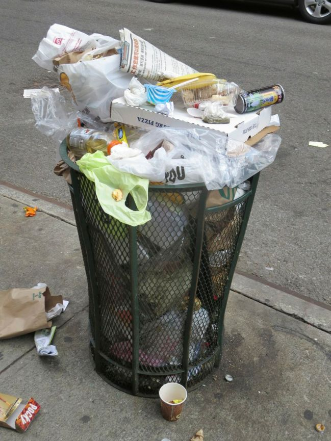 Eldridge and Broome Street trash can