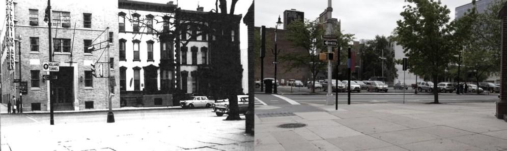 Corner of Central & Washington in 1959, demolished by Edison Parking