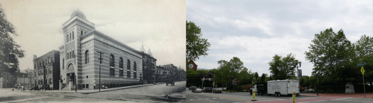 Temple B'Nai Abraham, demolished to construct parking for the Essex County Hall of Records