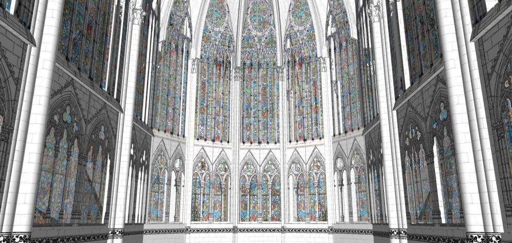 Choir hemicycle