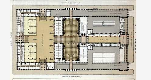 Plan of Old Penn Station