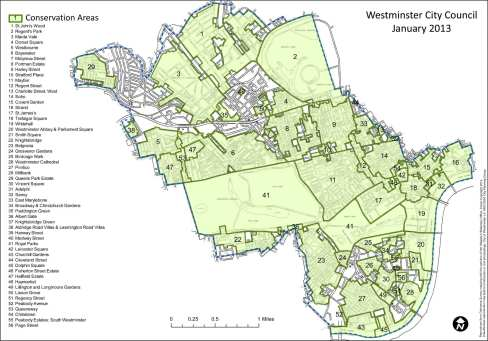 Conservation areas in Westminster