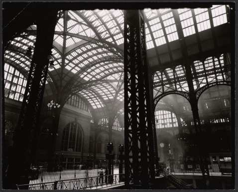 Concourse near track 16 in 1935-38 by Berenice Abbott