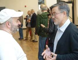 Sergio Rodriguez (left) with Zemin Zhang, Newark Preservation & Landmarks Committee director