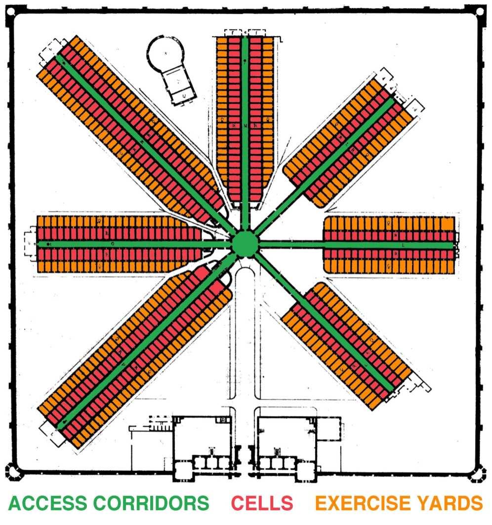 Eastern State Penitentiary Floor Plan - Drawn 1836