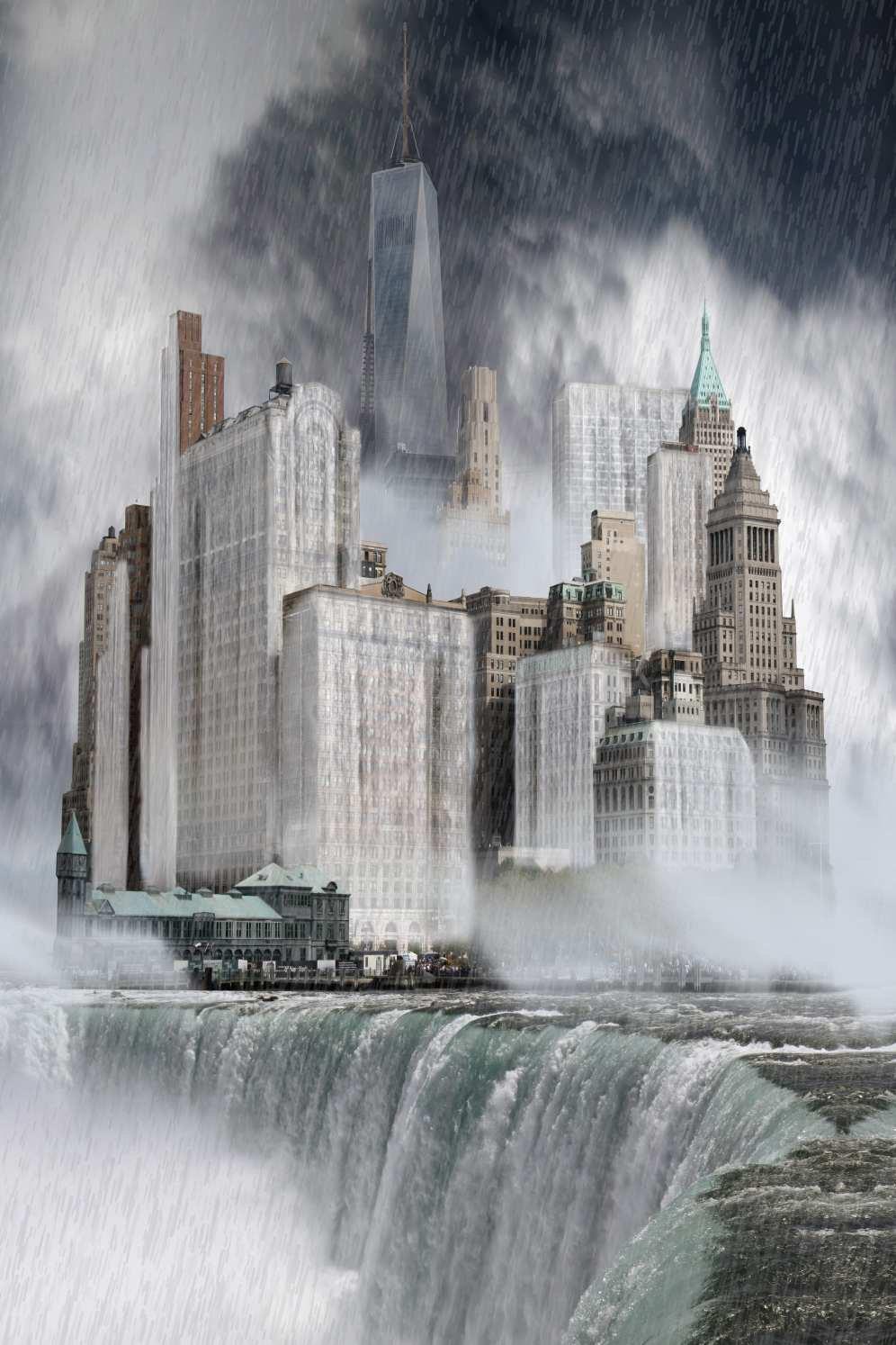 Flooded Lower Manhattan