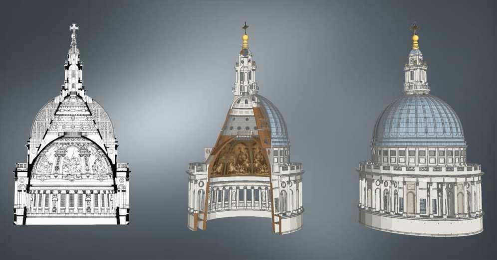 Three domes