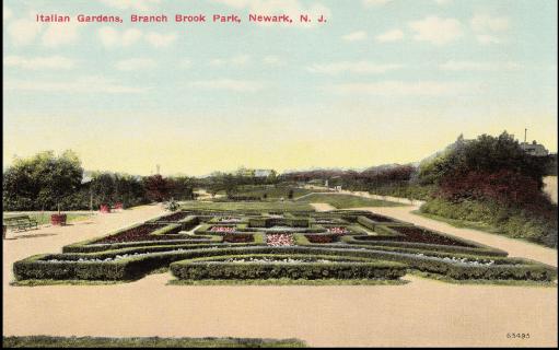 Landscaped flower beds