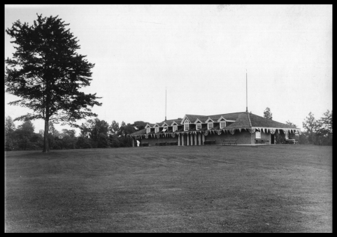 Tennis and field house on the great lawn