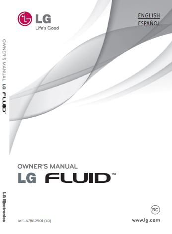 LG Fluid (LG AN160) User manual / Guide