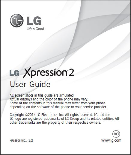 at t lg xpression 2 lg c410 user manual guide available for rh mylgphones com LG Xpression Cell Phone Manual lg xpression user manual pdf
