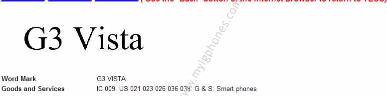LG files trademark for G3 Beat, G3 lite and G3 vista