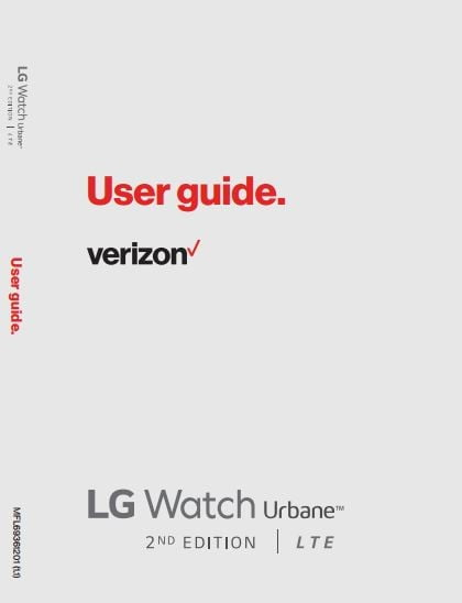 Verizon LG Watch Urbane 2nd Edition (LG-W200V) User manual