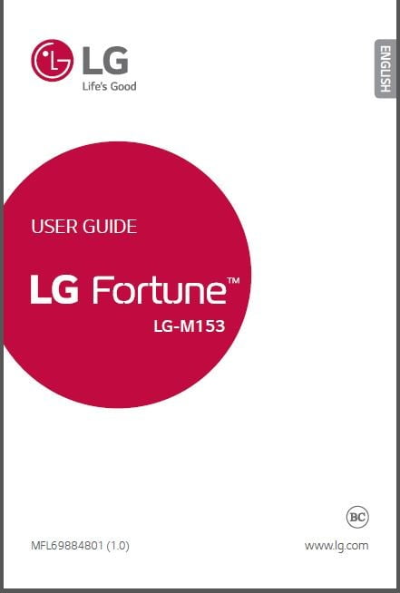 Cricket LG Fortune M153 User guide / Manual – My LG Cell Phones