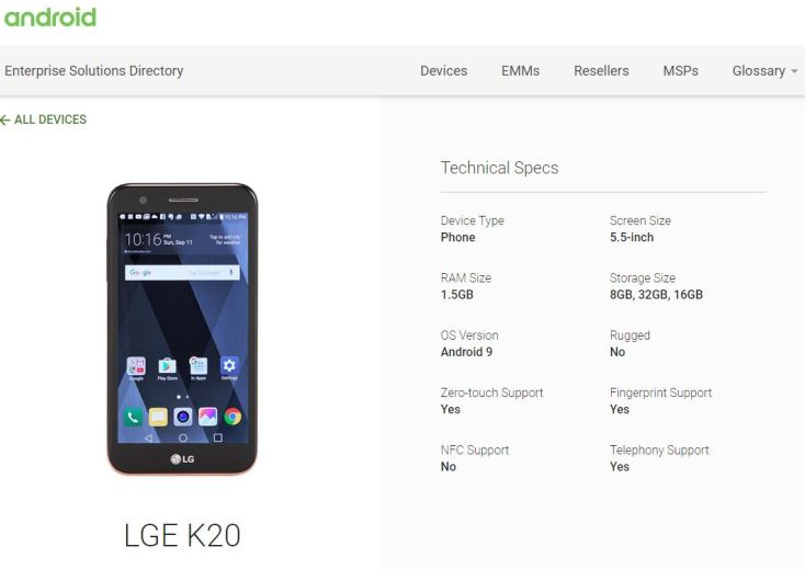 LG K20 Plus Android 9 Pie Firmware Update? - My LG Cell Phones