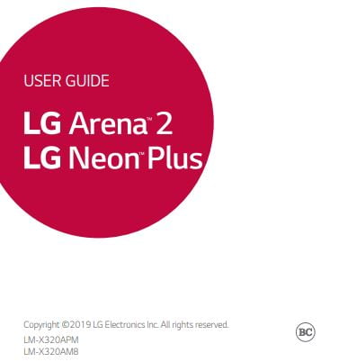 AT&T PREPAID LG Neon Plus User Manual / Guide