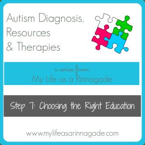 Autism Step 7: Choosing the Right Education via My Life as a Rinnagade